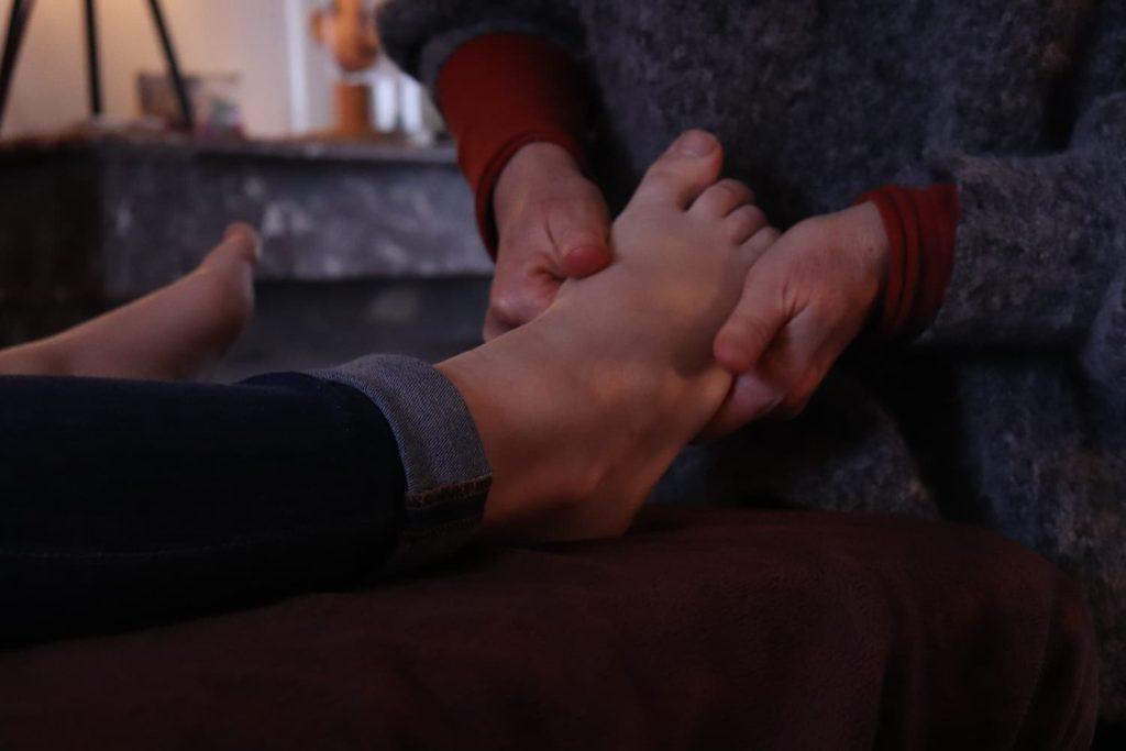 zones réflexes pieds
